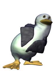 neugieriger Toon Pinguin