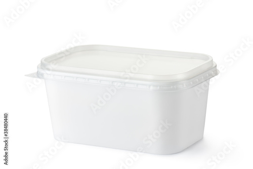 Plastic rectangular container for dairy foods