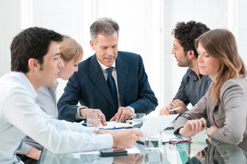 Business people work in group