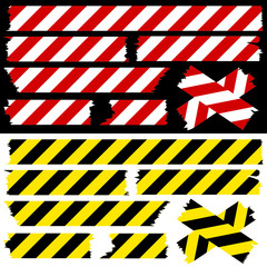 Tape Set Safety Red/White & Black/Yellow