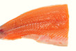 Fillet Of Raw Salmon Fish On White Background