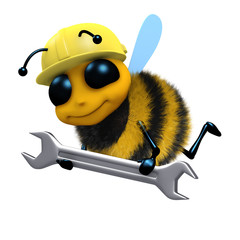 3d Bee does some maintenance with his spanner