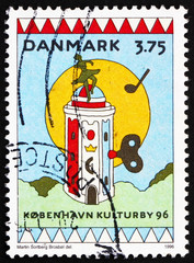 Postage stamp Denmark 1996 Round Tower as Music Box, Copenhagen