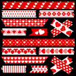 Tape Set Different Hearts Red/White