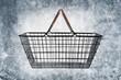 grunge shopping basket