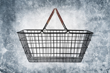 grunge shopping basket