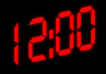 Digitalanzeige - 12:00
