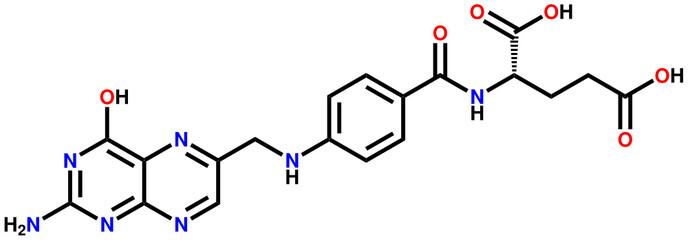 Folic acid structural formula