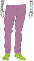 He pants