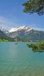 Blick auf den Urlaubsort Perisau am Achensee