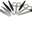 Manicure tools isolated on white - beauty salon equipment