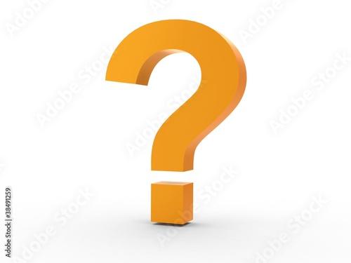 Icon Fragezeichen orange