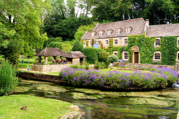 Cotswold village of Bibury, England