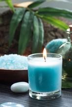 Réglage Spa avec bain de sel et des bougies