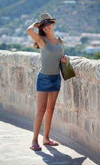 Turista al Castello Bellver - Palma de Mallorca