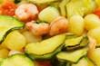 Gnocchi con gamberetti e zucchine
