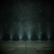 Wohndesign - Dekowand schwarz mit Beleuchtung