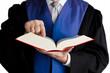 Richter mit Gesetzbuch