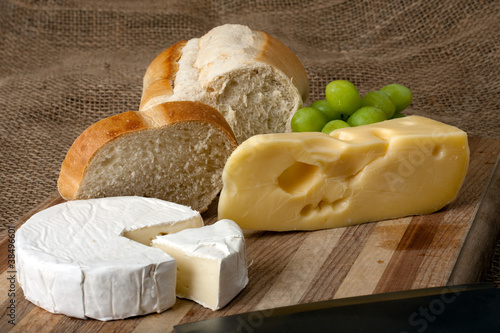 Norwegian Jarlsberg and Camembert