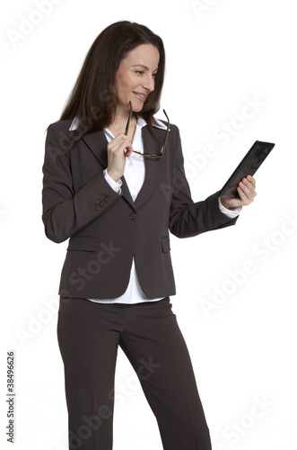 Businesswoman Holding Tablet Device
