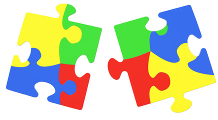 Multicolored Puzzle Pieces Symbolizing Autism Awareness