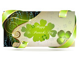 Banner with clover for St. Patrick's Day