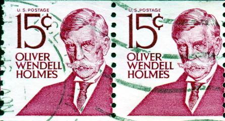 Oliver Wendell Holmes.1809 - 1894. US Postage.