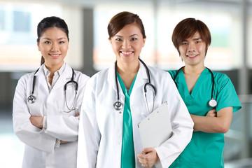 A team of a happy Doctors