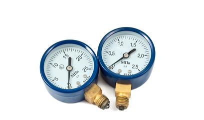 oxygen pressure gauge isolated