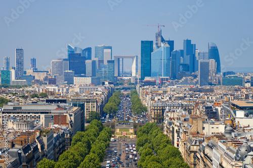 Fototapety, obrazy : The Avenue Charles de Gaulle and La Defense, Paris.