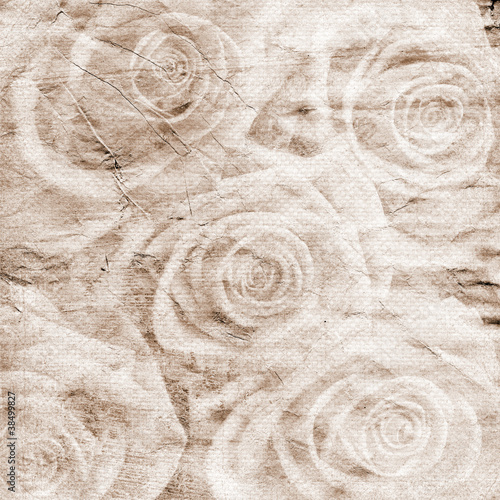 Vintage romantic background with roses © o_april
