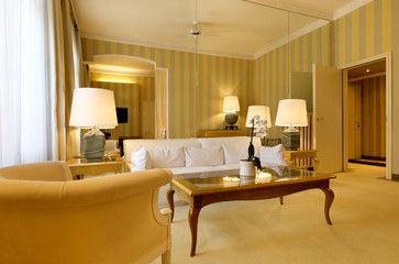luxury suite in hotel