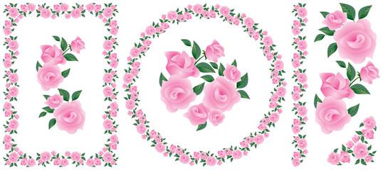 Rose decor ornament element