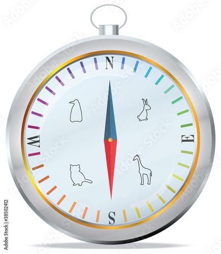 Staande foto Kunstmatig Compass in vector