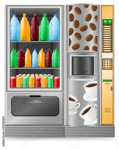 vending coffee and water is a machine