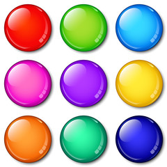 Glass Buttons colorful set