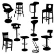 Set of bar Armchairs Silhouettes
