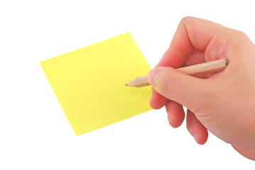 write on post it