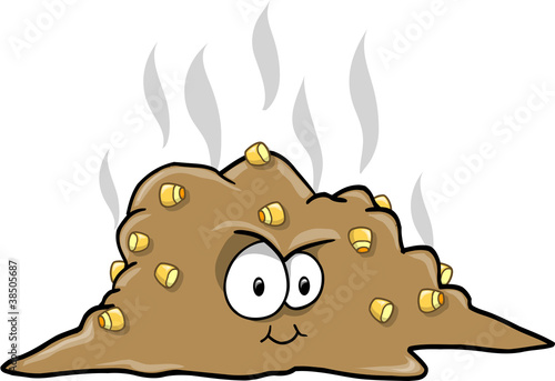 Turd Poop Vector Illustration