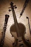 Fototapete Musikalisch - Instrumente - Saiteninstrument