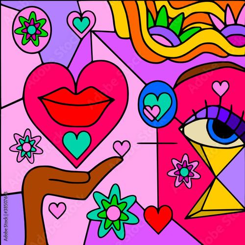 Obraz amore astratto