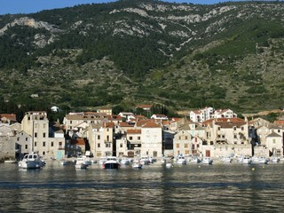 Vis town on the island Vis in Croatia