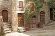 Leinwandbild Motiv italian yard in tuscan village