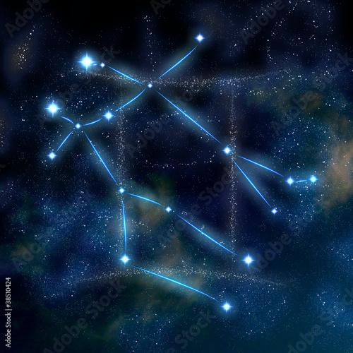 Gemini konstelacja i symbol