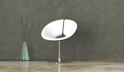 Wohndesign - weißer Sessel