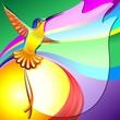 Colibri Sfondo Colori-Hummingbird Colors Background-Vector