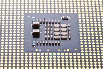 Close up of micro processor