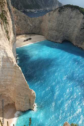 Top view of Navagio beach in Greece