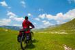 Woman with mountain bike