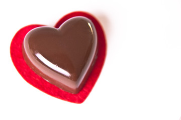 Valentine's Heart Shaped Chocolate